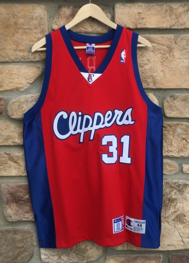 db7e48233 90's Brent Barry Authentic Champion Los Angeles Clippers NBA Jersey ...