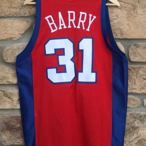 vintage brent barry LA Clippers authentic champion nba jersey