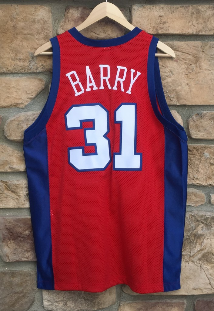 90 s Brent Barry Authentic Champion Los Angeles Clippers NBA Jersey ... abd83d9f6