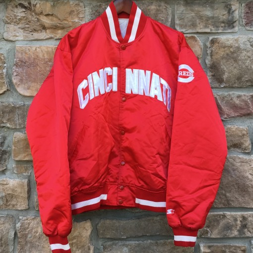 vintage Cincinnati reds 90's starter satin mlb jacket size large