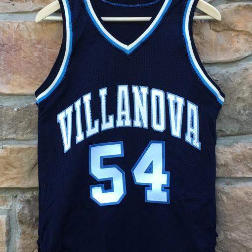 Vintage Ed Pinckney Villanova Wildcats 1985 80's sandknit ncaa jersey