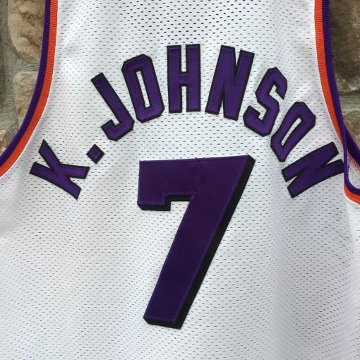 vintage kevin johnson authentic phoenix suns white jersey