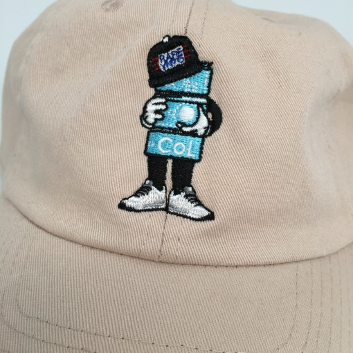 rare vntg Col 6 panel hat black