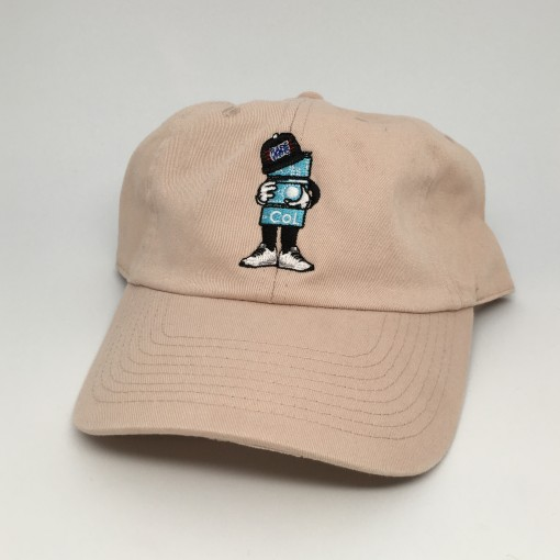 rare vntg color of life khaki 6 panel hat black