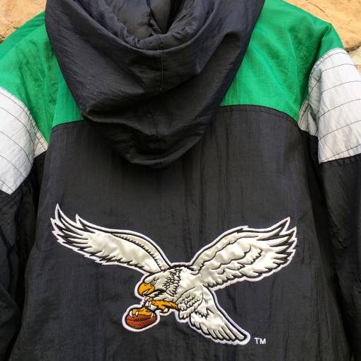 vintage 90's Philadelphia Eagles kelly green starter jacket