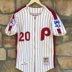 vintage 1976 Mike Schmidt Philadelphia Phillies jersey size 36 small