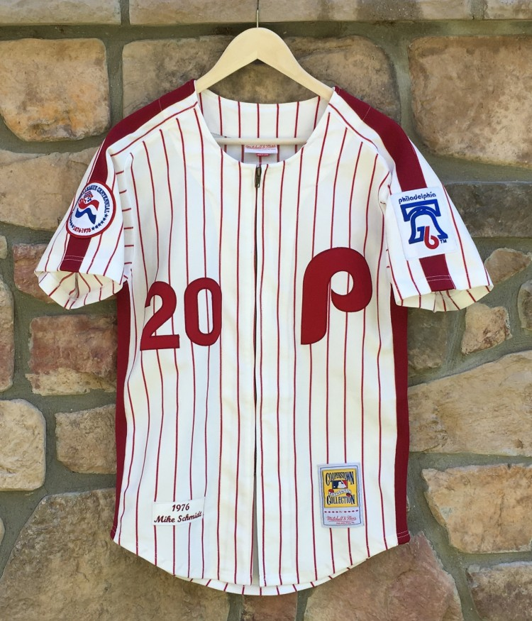 1976 Mike Schmidt Philadelphia Phillies Retro MLB Jersey Size Small ... 68a80aca60b
