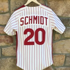 vintage 1976 Mike Schmidt Mitchell and ness Philadelphia Phillies jersey size 36 small