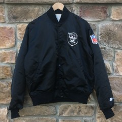 vintage 90's Los Angeles Raiders Starter satin jacket NWA
