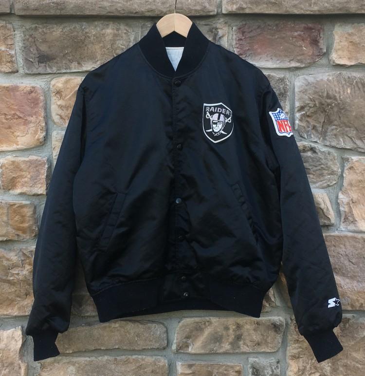 huge discount 0eb7d 38745 90's Los Angeles Raiders Starter Satin NFL Jacket Size Large