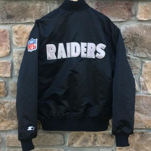 Vintage LA Raiders Starter satin nfl bomber jacket