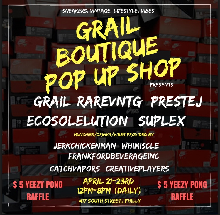 Grail Boutique x Rare Vntg grail weekend pop up shop philadelphia, pa