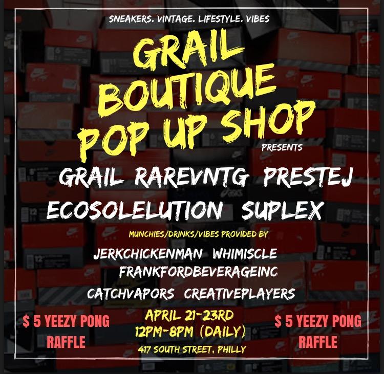 Grail Boutique x Rare Vntg grail weekend pop up shop philadelphia, pa