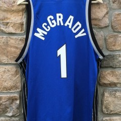 vintage tracy t mac mcgrady orlando magic champion nba jersey size 44