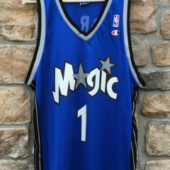 vintage tracy mcgrady orlando magic champion nba jersey size 44 large