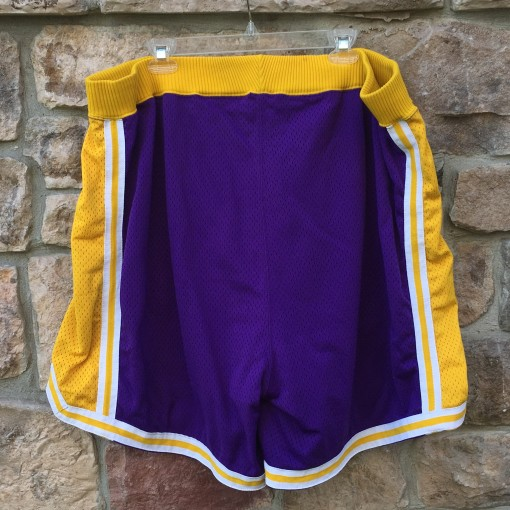 vintage game worn purple los angeles lakers champion shorts size 48