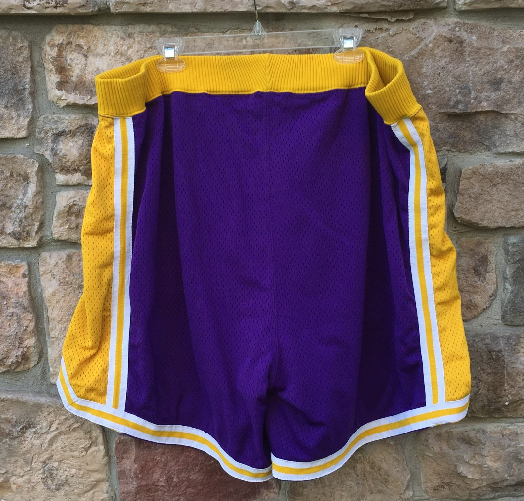 47c9071803a 95-96 Los Angeles Lakers Game Worn Authentic Champion NBA Shorts ...