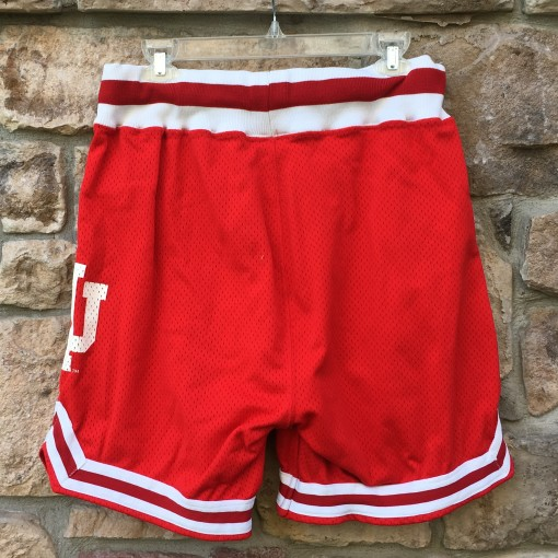 authentic red 90's indiana hoosiers ncaa shorts size 36