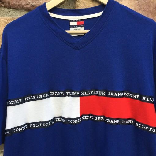 vintage 90's tommy hilfiger jeans t shirt
