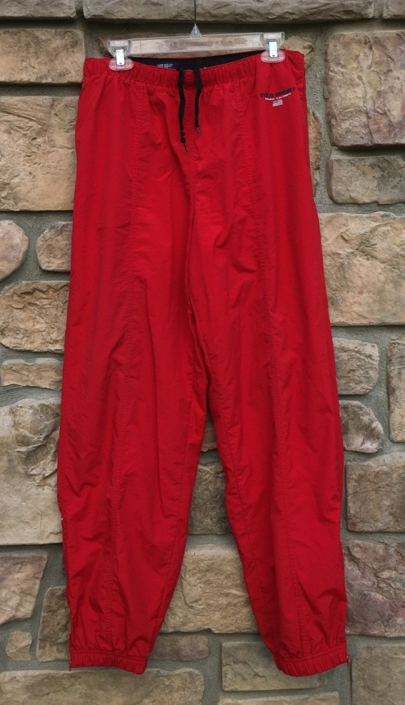 b0b73331a 90 s Polo Ralph Lauren Sport Track Pants Red Size Large