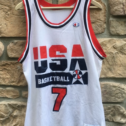 vintage 1992 Larry Bird Dream team USA champion jersey size 44 large