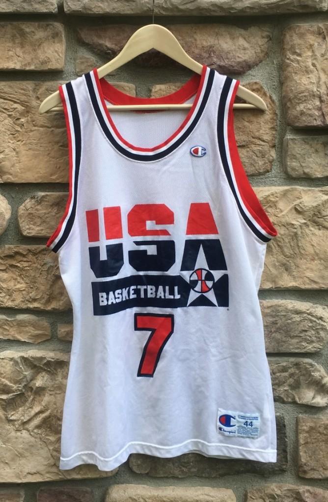 buy online b49e7 d3577 1992 Larry Bird Team USA Dream Team Champion Jersey Size 44
