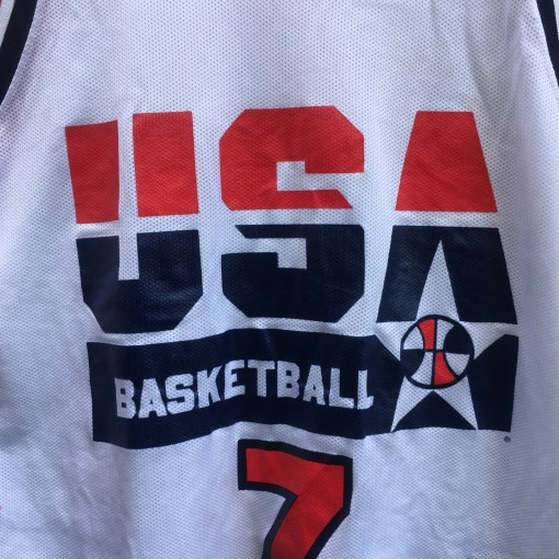 vintage Dream Team USA larry bird white jersey