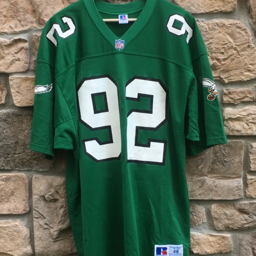 vintage 90's Reggie White Philadelphia Eagles Authentic Russell NFL jersey size 48