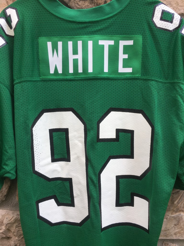 Reggie White Russell Philadelphia Eagles Kelly Green authentic 1992 jersey 5ed794677