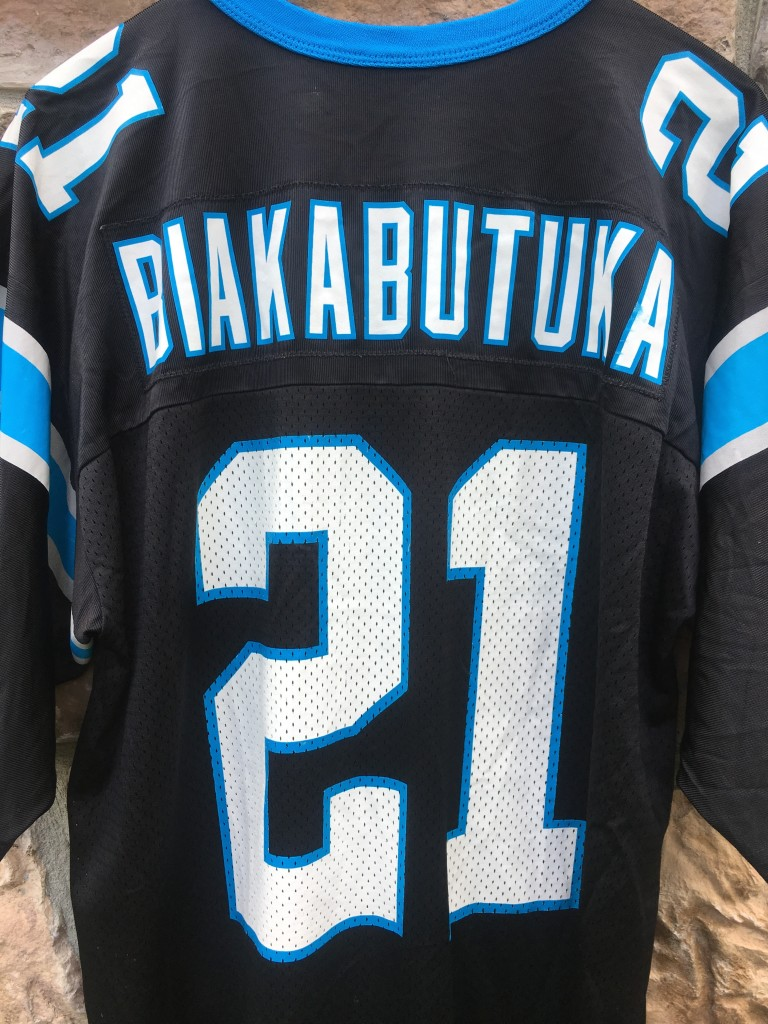 a64488844 1999 Tim Biakabutuka Carolina Panthers Nike NFL Jersey Size Large ...