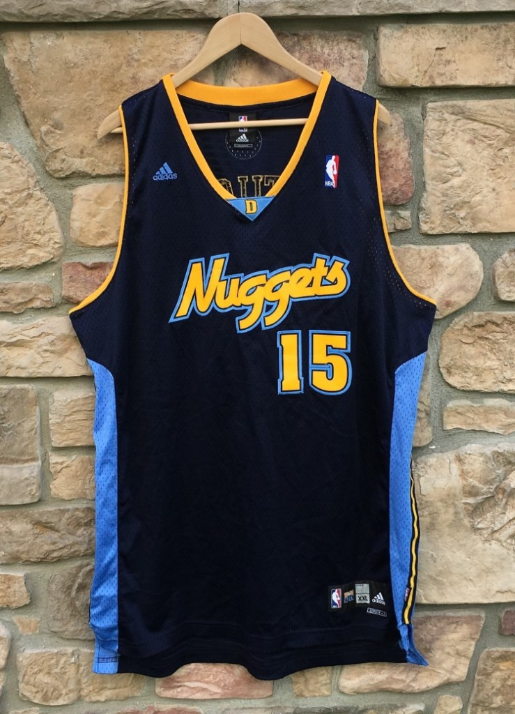1d852e79e45 2005 Carmelo Anthony Denver Nuggets Adidas Swingman NBA Jersey Size ...