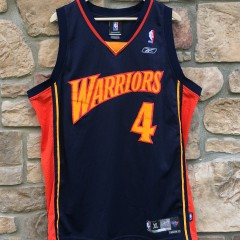 vintage derek fisher golden state warriors reebok nba swingman jersey size XL