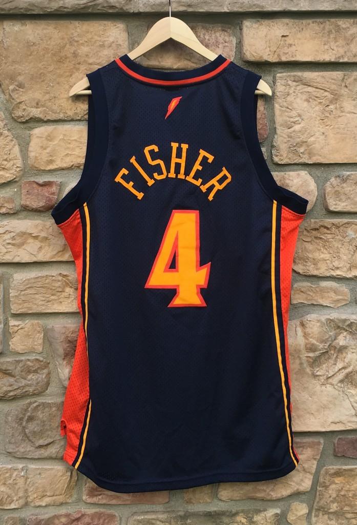 bb658890f421 vintage derek fisher Golden State Warriors derek fisher reebok swingman  jersey size XL