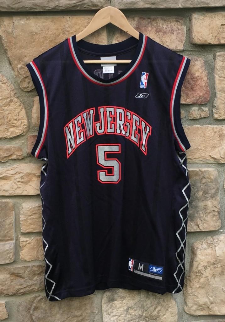 5839b8778dd Jason Kidd new jersey nets navy blue replica jersey size medium. vintage ...