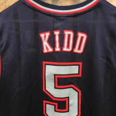 vintage jason kidd new jersey nets nba jersey size medium