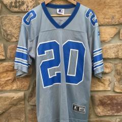 vintage barry sanders detroit lions silver starter alternate NFL jersey 90's