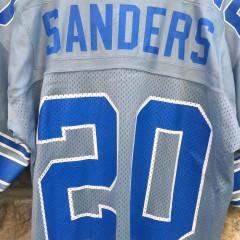 Rare Silver Barry Sanders Detroit  lions  Starter NFL jersey