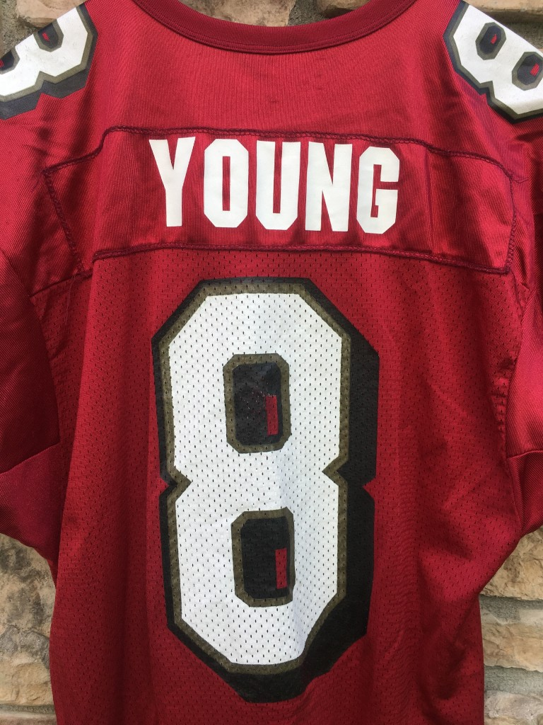 vintage Steve Young San Francisco 49ers Wilson NFL jersey size large.  vintage Steve Young Maroon jersey 537db129b