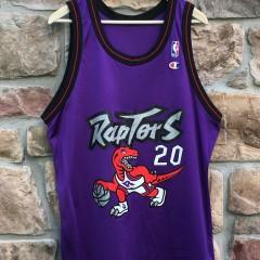 vintage damon stoudamire toronto raptors champion jersey size 44
