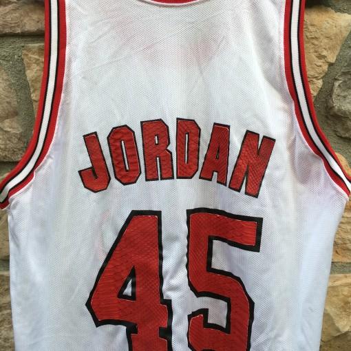 vintage michael jordan eric emanuel custom snake python skin jersey