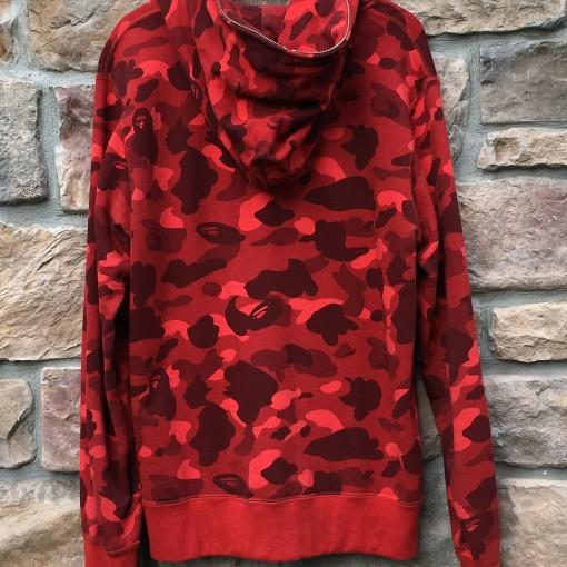 A Bathing Ape Bape first camo red full zip sweatshirt