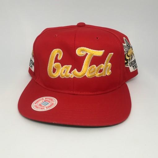 vintage 90's Georgia tech yellow jackets ncaa snapback hat