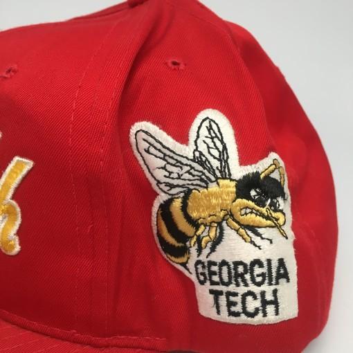 vintage 90's Georgia Tech NCAA snapback hat