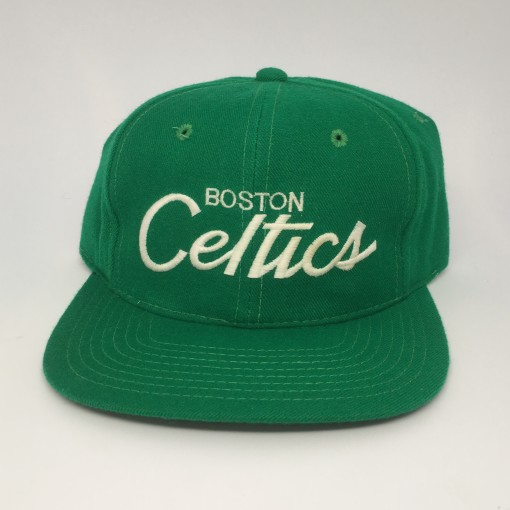vintage 80's boston celtics sports specialties script snapback hat