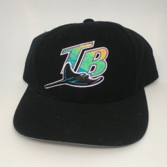 Vintage 90's Tampa Bay Devil Rays Logo Athletic MLB snapback hat