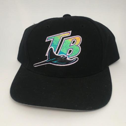 Vintage 90's Tampa Bay Devil Rays Logo Athletic MLB snapback hat