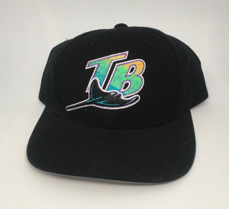 83aa3f5861b Vintage 90 s Tampa Bay Devil Rays Logo Athletic MLB snapback hat