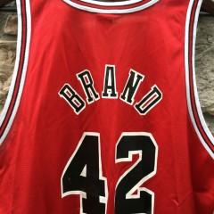 vintage 1999 Elton Brand Chicago Bulls champion nba jersey size 48