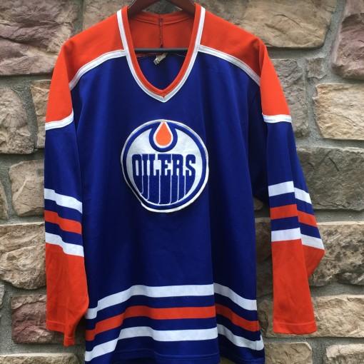 vintage 90's Edmonton Oliers CCM NHL hockey jersey size large