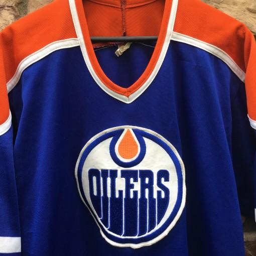 vintage 80's Edmonton Oilers CCM nhl hockey jersey size large
